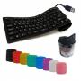 Teclado Pc Flexible Silicona Colores